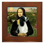 Mona Lisa/English Springer Framed Tile