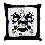 Bithel Family Crest Throw Pillow
