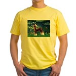 Lilies / Chinese Crested Yellow T-Shirt