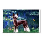 Lilies / Chinese Crested Sticker (Rectangle)