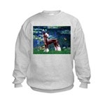 Lilies / Chinese Crested Kids Sweatshirt