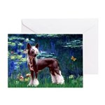 Lilies / Chinese Crested Greeting Card