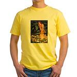 Fairies / Tibetan Spaniel Yellow T-Shirt