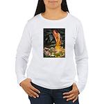Fairies / Tibetan Spaniel Women's Long Sleeve T-Sh