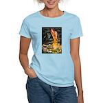 Fairies / Tibetan Spaniel Women's Light T-Shirt
