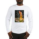 Fairies / Tibetan Spaniel Long Sleeve T-Shirt