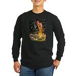 Fairies / Tibetan Spaniel Long Sleeve Dark T-Shirt