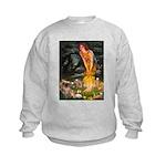 Fairies / Tibetan Spaniel Kids Sweatshirt