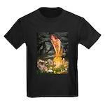 Fairies / Tibetan Spaniel Kids Dark T-Shirt