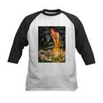 Fairies / Tibetan Spaniel Kids Baseball Jersey
