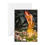 Fairies / Tibetan Spaniel Greeting Cards (Pk of 10