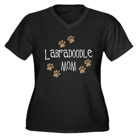Labradoodle Mom Women's Plus Size V-Neck Dark T-Sh