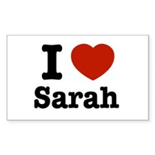 I love Sarah Rectangle Decal