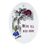 Cute Alice in wonderland Oval Ornament