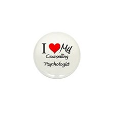 I Heart My Counselling Psychologist Mini Button (1