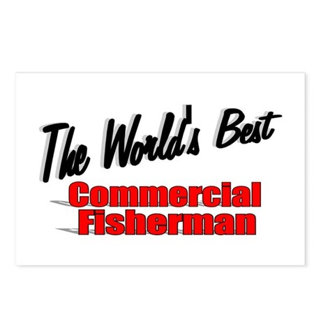 """The World's Best Commercial Fisherman"" Postcards"