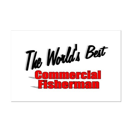 """The World's Best Commercial Fisherman"" Mini Poste"