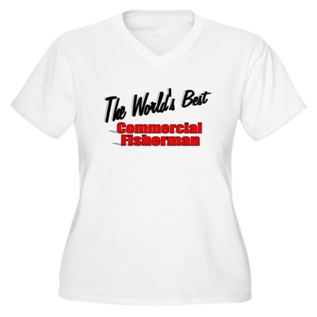 """The World's Best Commercial Fisherman"" Women's Pl"