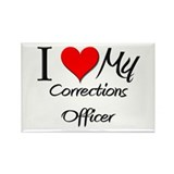 I Heart My Corrections Officer Rectangle Magnet