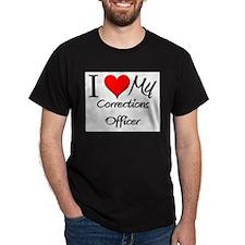 I Heart My Corrections Officer T-Shirt