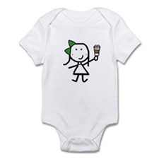 Girl & Coffee Infant Bodysuit