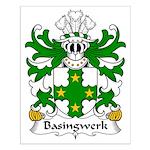 Basingwerk Family Crest Small Poster