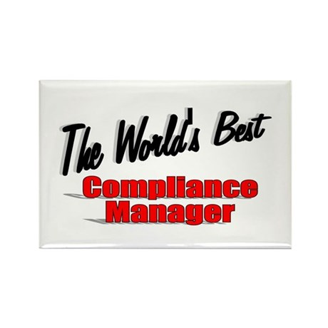 """The World's Best Compliance Manager"" Rectangle Ma"