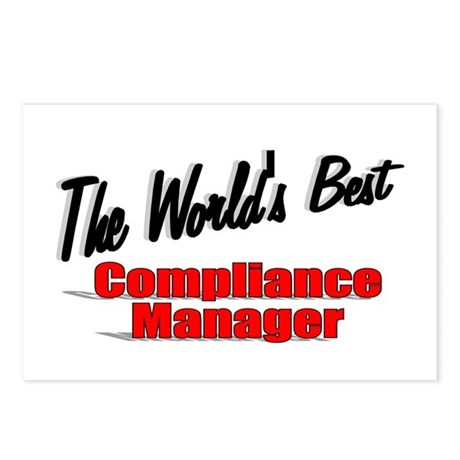 """The World's Best Compliance Manager"" Postcards (P"
