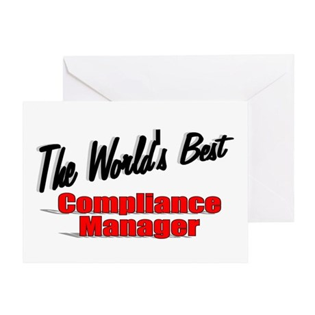 """""""The World's Best Compliance Manager"""" Greeting Car"""