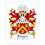 Bangor Family Crest Small Poster