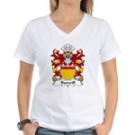 Bamvill Family Crest Women's V-Neck T-Shirt