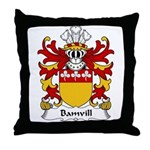 Bamvill Family Crest Throw Pillow