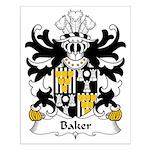 Baker Family Crest Small Poster