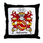 Aylwarde Family Crest Throw Pillow
