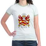 Aylwarde Family Crest Jr. Ringer T-Shirt