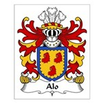 Alo Family Crest Small Poster
