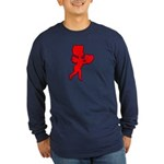 Cupid Be My Valentine Long Sleeve Dark T-Shirt