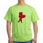 Cupid Be My Valentine Green T-Shirt