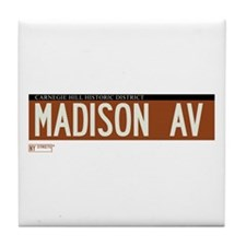 Madison Avenue in NY Tile Coaster