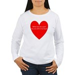 When we are apart Women's Long Sleeve T-Shirt