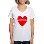 When we are apart Women's V-Neck T-Shirt