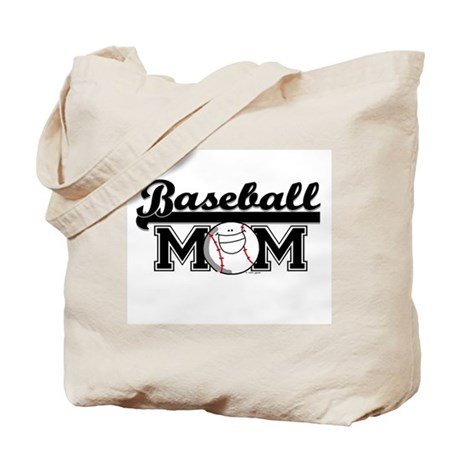Baseball mom silver Tote Bag