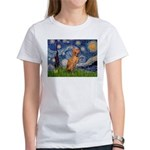 Starry Night / Vizsla Women's T-Shirt