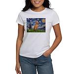 Starry Night / Vizsla Women's T-Shirt