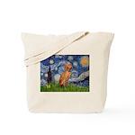 Starry Night / Vizsla Tote Bag
