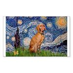 Starry Night / Vizsla Sticker (Rectangle)
