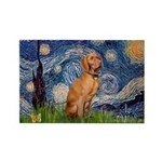 Starry Night / Vizsla Rectangle Magnet (10 pack)