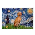 Starry Night / Vizsla Postcards (Package of 8)