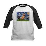 Starry Night / Vizsla Kids Baseball Jersey