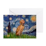 Starry Night / Vizsla Greeting Cards (Pk of 20)